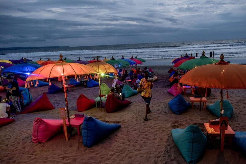 Tourism-reliant Bali has since been among the country's hardest-hit provinces. (Photo by Bloomberg)
