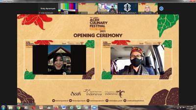 Kementerian Pariwisata dan Ekonomi Kreatif Indonesia mengumumkan festival kuliner virtual pertama di Aceh