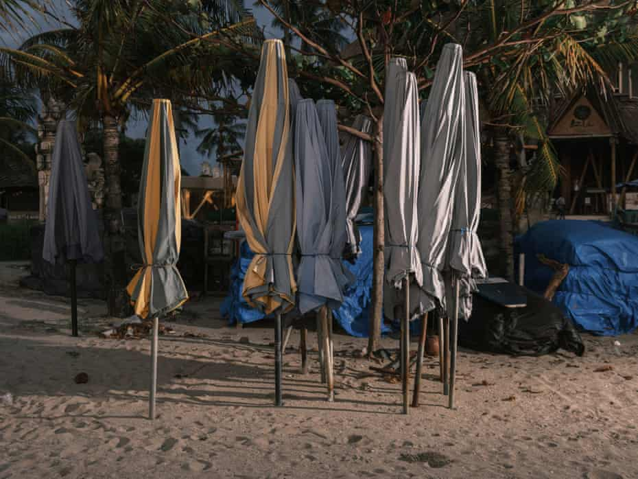 Payung di pantai Kuta